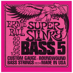 Ernie Ball 2824 Super Slinky 5-String Bass Strings 40-125