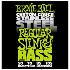 Ernie Ball Stainless Steel Regular Slinky Bass Guitar Strings 50 - 105