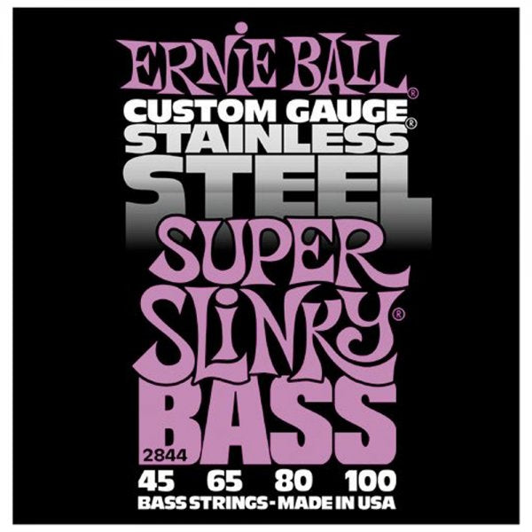 Stainless Steel Super Slinky Bass Guitar Strings 45-100