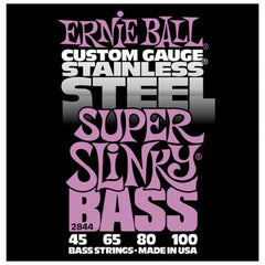 Ernie Ball Stainless Steel Super Slinky Bass Guitar Strings 45-100