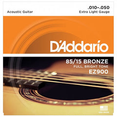 D'Addario EZ900 American Bronze Acoustic Guitar Strings - Extra Light - 10-50