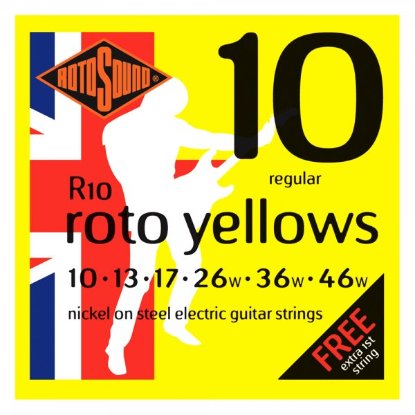 R10 Roto Yellows Electric Guitar Strings - 10-46