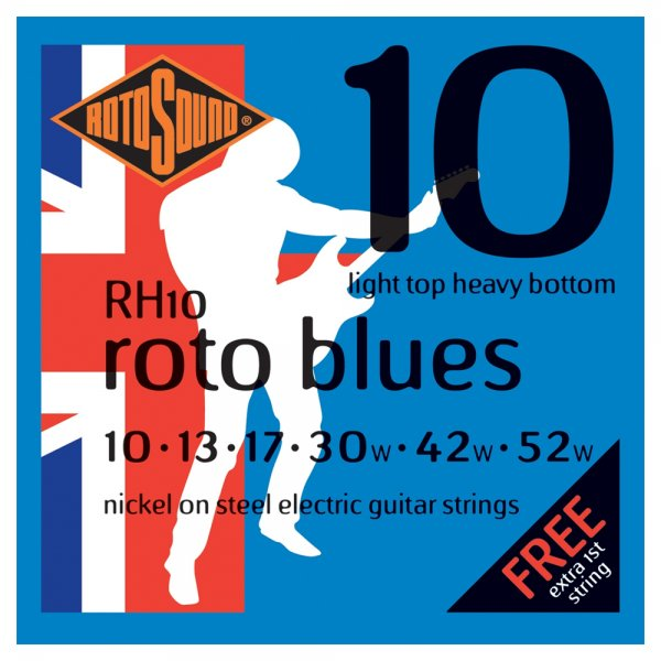 RH10 Roto Blues Electric Guitar Strings 10-52