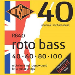 Rotosound RB40 Roto Bass 40 Bass Guitar Strings Medium Gauge 40-100