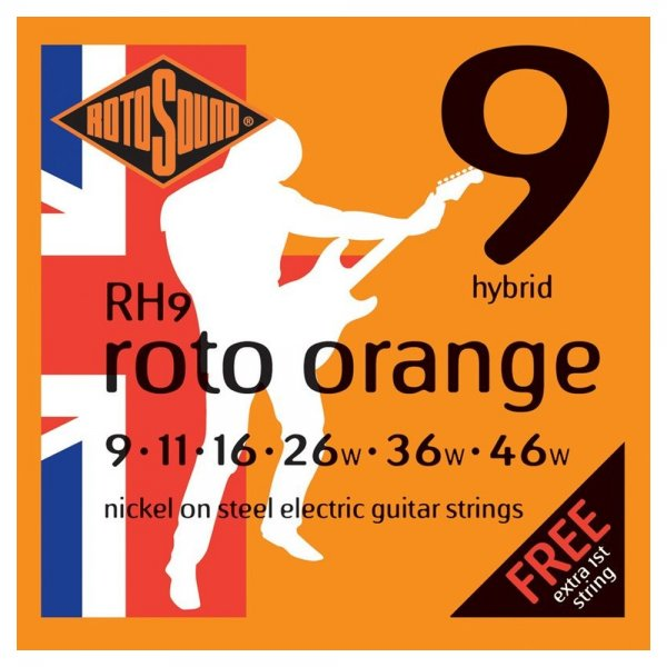 RH9 Roto Orange Electric Guitar Strings 9-46