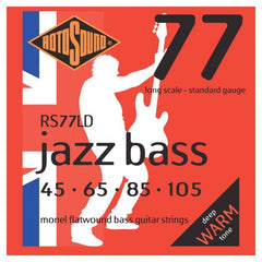 Rotosound RS77LD Jazz 77 Bass Guitar Strings - Monel Flatwound - Standard - 45-105