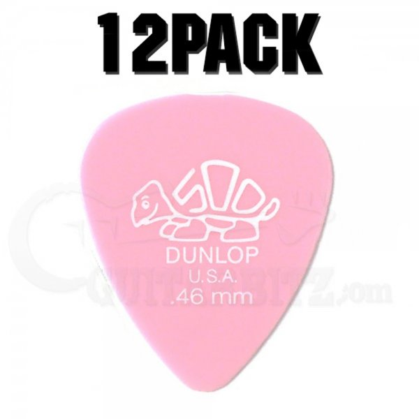 Delrin Standard Plectrum Players Pack - 12 Pack - .46mm Light Pink