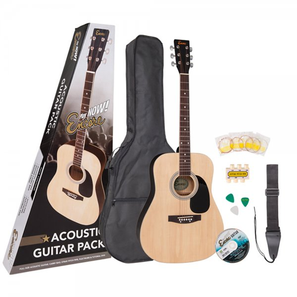 Acoustic Guitar Package - Natural
