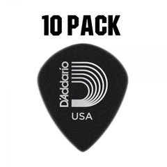 D'Addario Duralin Black Ice Plectrum Pack - 10 Pack - Medium 0.80mm