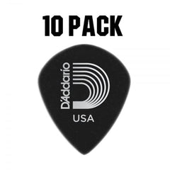 D'Addario Duralin Black Ice Plectrum Pack - 10 Pack - Heavy 1.1mm