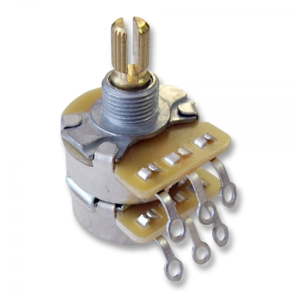 Dual 500K / 250K Split Shaft Potentiometer for Tone Control