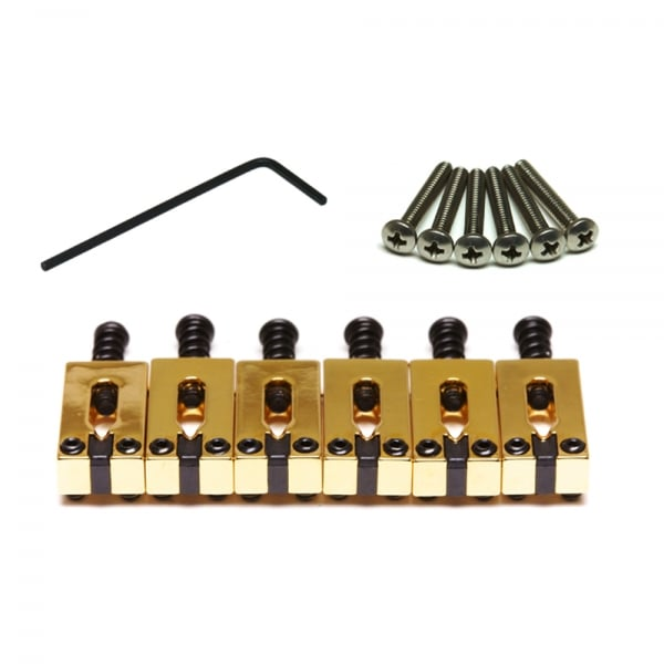 PG-8000-0G Gold String Saver Saddle Set for Strat & Tele