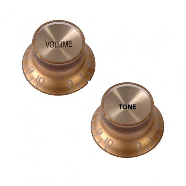 Reflector Knobs Set for Les Paul / SG - Gold  - 2 Pack