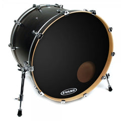 "Evans BD22 22"" EQ3 Reso Kick Drum Head - Black"