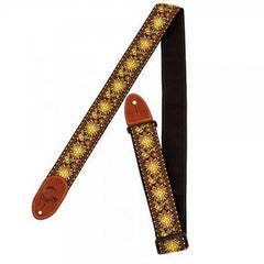 Gretsch Premium Woven Guitar Strap - Yellow & Orange