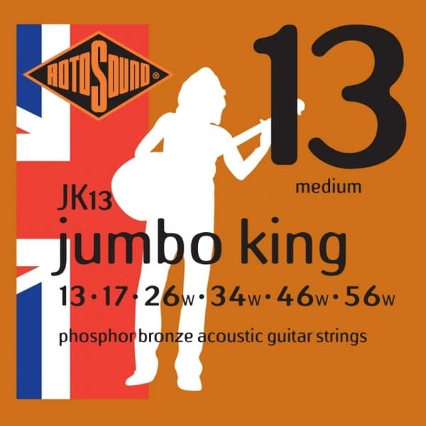 JK13 Jumbo King Phosphor Bronze Acoustic Guitar Strings Medium Lights 13-56