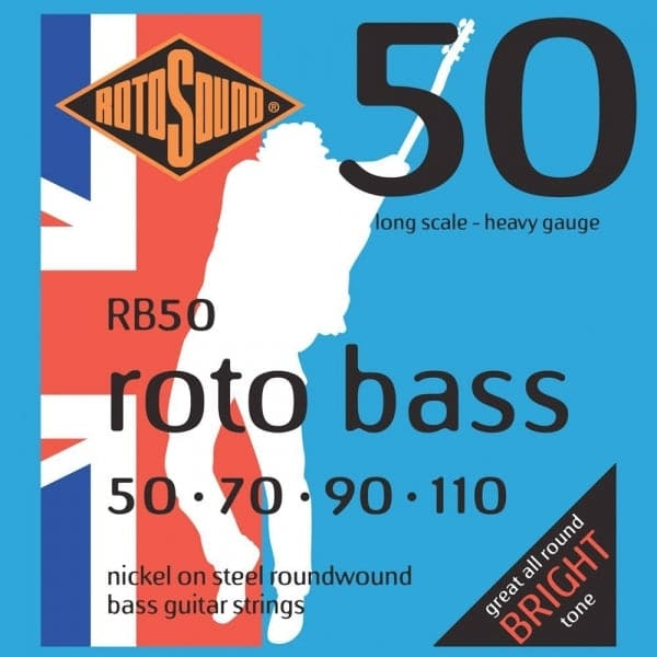 RB50 Roto 50 Bass Guitar Strings - Heavy Gauge - 50-110