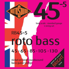 Rotosound RB45.5 5 String Bass Guitar Strings - Standard Gauge - 45-130