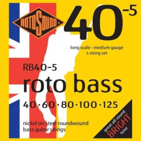 RB40.5 Roto 40.5 Hybrid 5 String Bass Guitar Strings - 40-125