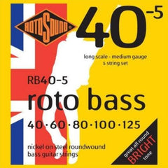 Rotosound RB40.5 Roto 40.5 Hybrid 5 String Bass Guitar Strings - 40-125