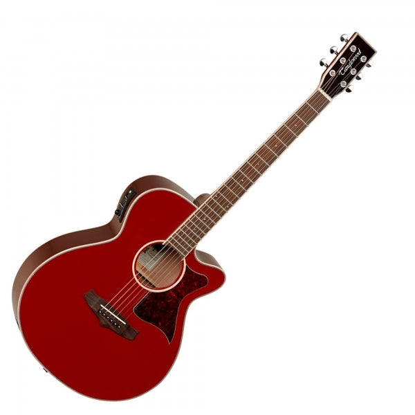 TW4E Winterleaf Super Folk Electro Acoustic Guitar - Red Gloss