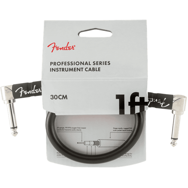 Professional Series Instrument Patch Cables - 1ft - Black