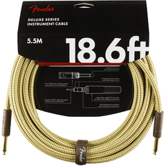 Fender Deluxe Series Tweed Guitar Cable - 18foot (5.5 meters) - Straight