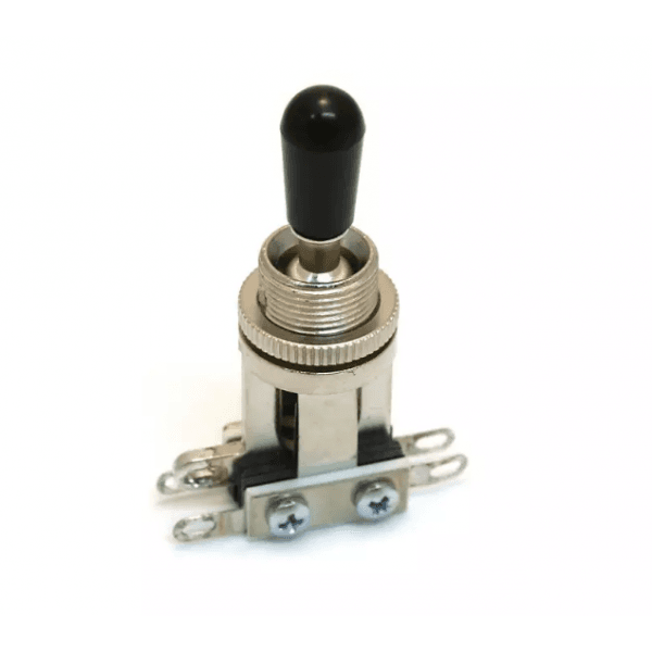 Switchcraft - 3 way toggle switch - short straight - Black Tip