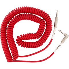 Fender Original Series Coil Cable - Straight / Angle - 30ft(9m) - Fiesta Red