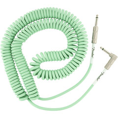 Fender Original Series Coil Cable - Straight / Angle - 30ft(9m) - Sea Foam Green