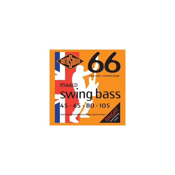 RS66LD 4 String Swing Bass Standard Stainless Steel Long Scale Strings 45-105
