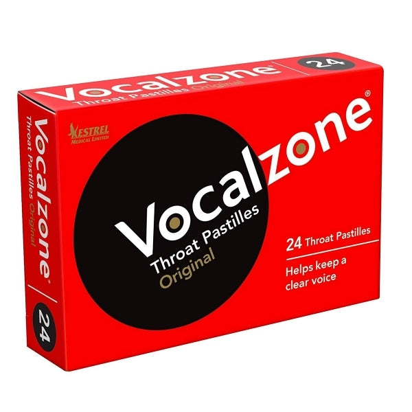 Vocalzone Throat Pastilles for Clear Vocals - Original