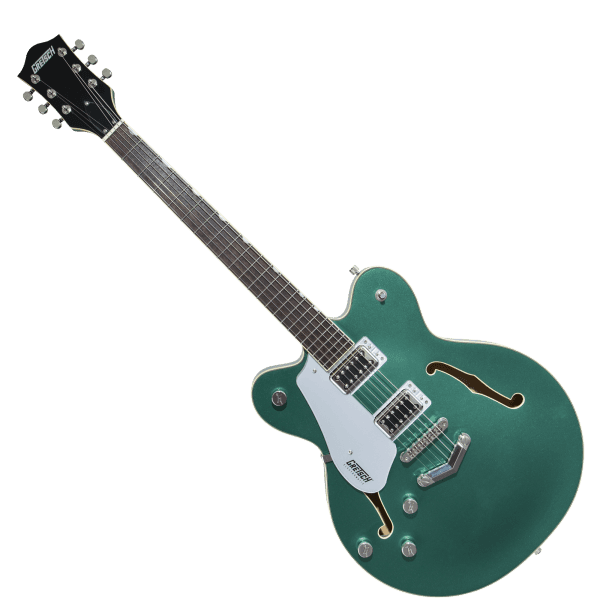 Electromatic G5622LH Center Block with V-Stoptail - Georgia Green - Left-Handed