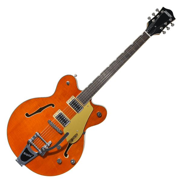 Electromatic G5622T Double Center Block with Bigsby - Orange Stain