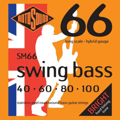 Rotosound SM66 Swing Bass Stainless Steel Roundwound - Bass Guitar Strings - 40-100