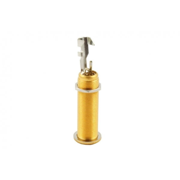 Switchcraft Jack socket -1/4 inch Long-threaded-barrel input jack #152B stereo - Gold