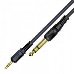 Kinsman LPAC04 Soundcard Audio Cable - 3.5mm Stereo to 1/4 inch/ 6.35 mm Stereo - 10ft/3m