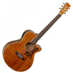 Tanglewood TW47-ASE Sundance Super Folk All Solid Electro Acoustic Guitar - Mahogany + Hard Case