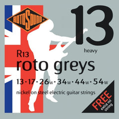 Rotosound R13 Roto Greys Electric Guitar Strings - 13-54