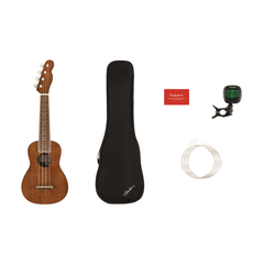 Fender Seaside Soprano Ukulele Pack - Walnut Fingerboard - Mahogany