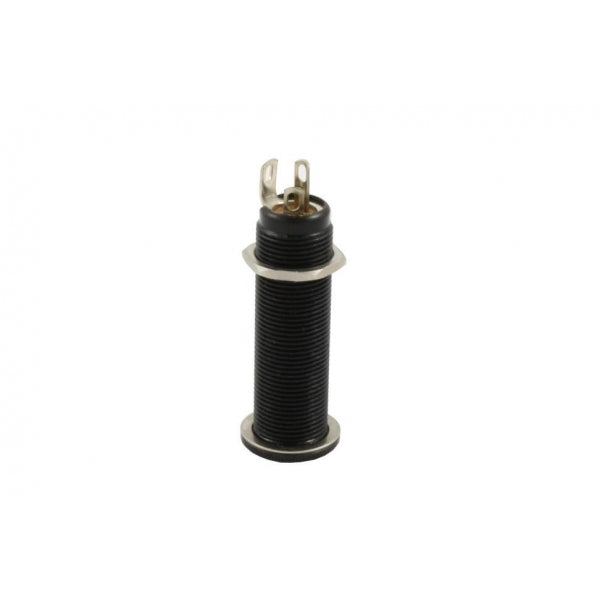 Switchcraft Jack socket -1/4 inch Long-threaded-barrel input jack #152B stereo - Black
