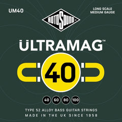 Rotosound UM40 - Ultramag 4 String Bass Guitar Strings - 40-100