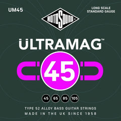Rotosound UM45 - Ultramag 4 String Bass Guitar Strings - 45-105