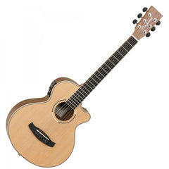 Tanglewood DBT-TCE-BW Discovery Electro Acoustic Travel Guitar - Natural with Gig Bag