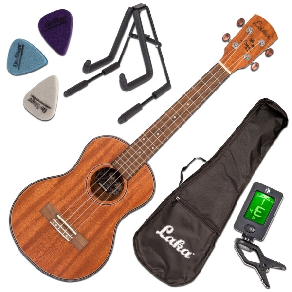 VUT40 Tenor Ukulele Package - Ukulele, Gig Bag, Stand, Clip-On Tuner, Picks