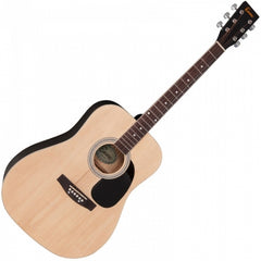 Encore EW100N Dreadnought Acoustic Guitar - Natural