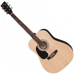 Encore EW100N Left Handed Dreadnought Acoustic Guitar - Natural