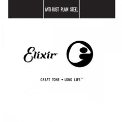 Elixir ONE SINGLE Nanoweb Coated Plain Steel Guitar String for Acoustic or Electric
