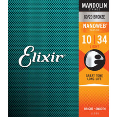 Elixir 11500 Nanoweb Coated Mandolin Strings - Light 10-34