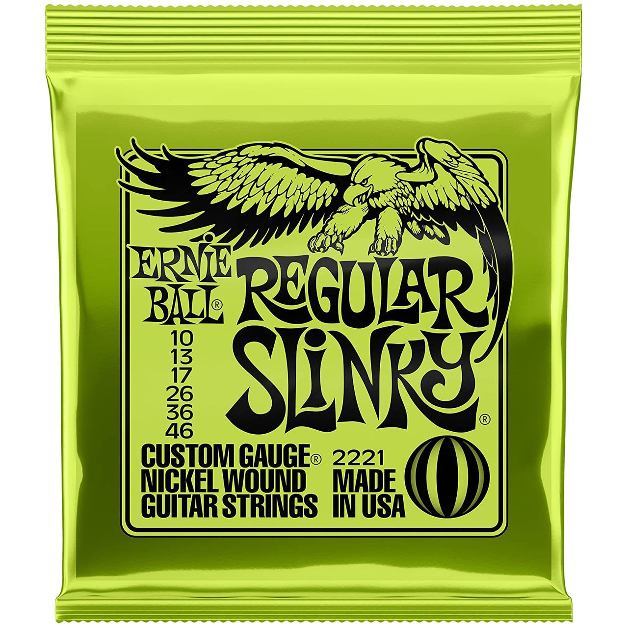 Ernie Ball Regular Slinky Electric Guitar Strings - 10-46